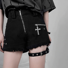 "Load image into Gallery viewer, ""GOTHIC CROSS"" SHORTS"