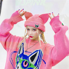 "Load image into Gallery viewer, ""PUSSYCAT"" BEANIE (3 COLORS)"