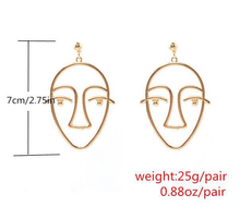 "Load image into Gallery viewer, ""FACES"" EARRINGS"