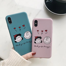 "Load image into Gallery viewer, ""THANK YOU FOR BEING YOU"" PEANUTS IPHONE CASE (2 COLORS)"