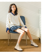 "Load image into Gallery viewer, ""SIMPLE DAY"" SWEATER (2 COLORS)"