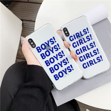 "Load image into Gallery viewer, ""BOYS BOYS BOYS / GIRLS GIRLS GIRLS"" IPHONE CASE"