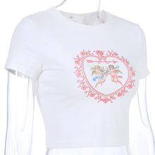 "Load image into Gallery viewer, ""ANGELS IN LOVE"" CROP TOP"