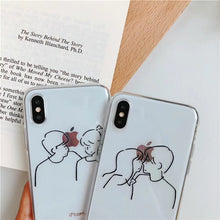 "Load image into Gallery viewer, ""HAPPY / NOT HAPPY COUPLE"" IPHONE CASE (2 DESIGNS)"