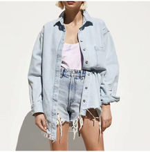 "Load image into Gallery viewer, ""LINDSEY"" DENIM JACKET"