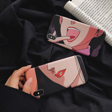 "Load image into Gallery viewer, ""LAUGHING GIRL"" IPHONE CASE"