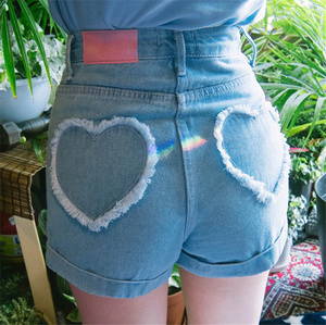 HEART RUFFLE SHORTS (2 COLORS)