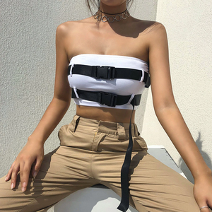 """BELT BUCKLED"" CROP TOP"