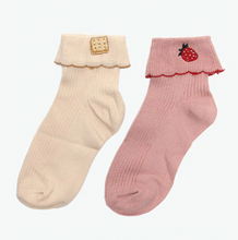 "Load image into Gallery viewer, ""BISCUIT 'N' BERRY"" SOCKS (2 COLORS)"