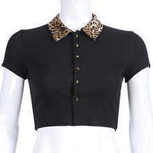 "Load image into Gallery viewer, ""LEOPARD LOVE"" CROP TOP"