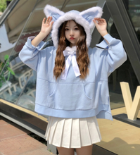 Load image into Gallery viewer, SKY BLUE CAT EAR HOODIE
