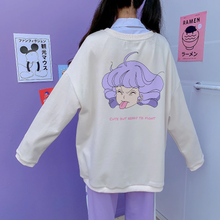 "Load image into Gallery viewer, ""CUTE BUT READY TO FIGHT"" CREAMY MAMI SWEATSHIRT"