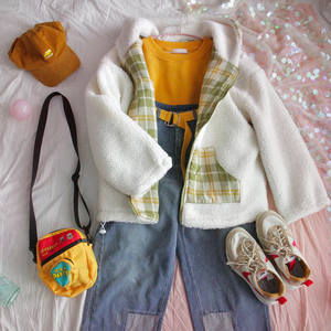 """KAWAII"" REVERSIBLE PLAID JACKET (2 COLORS)"