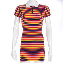 "Load image into Gallery viewer, ""RED APPLE"" STRIPED DRESS"