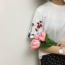 "Load image into Gallery viewer, ""SIMPLE FLOWERS"" SHIRT (2 COLORS)"