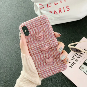 """TRIPLE PINK HEART"" IPHONE CASE"