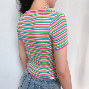 """PASTEL STRIPE LOVE"" CROP TOP"