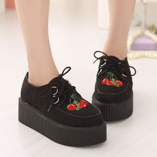 CHERRY PLATFORM SHOES