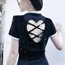 "Load image into Gallery viewer, ""HEART RIBBON"" CROP TOP (2 COLORS)"