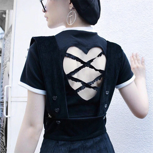 """HEART RIBBON"" CROP TOP (2 COLORS)"