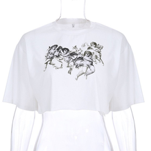 "Load image into Gallery viewer, ""GRUNGE ANGELS"" CROP TOP"