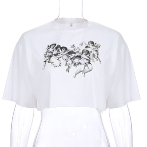 """GRUNGE ANGELS"" CROP TOP"