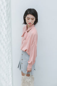 PASTEL RUFFLED BUTTON UP SKIRT