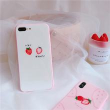 "Load image into Gallery viewer, ""SIMPLE STRAWBERRY"" IPHONE CASE (2 COLORS)"