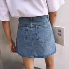 "Load image into Gallery viewer, ""STACEY"" DENIM SKIRT (2 COLORS)"