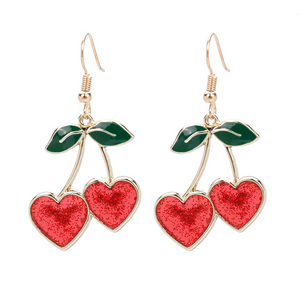 GLITTER CHERRY EARRINGS (2 COLORS)