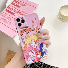 Load image into Gallery viewer, SAILOR MOON + CHIBIUSA IPHONE CASE