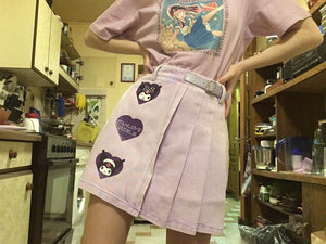 """KUROMI LOVE"" PURPLE SKIRT"