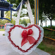 "Load image into Gallery viewer, ""LACE HEART"" LOLITA MESSENGER BAG"