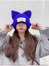 "Load image into Gallery viewer, ""LOVERBOY"" CAT EAR BEANIE (5 COLORS)"