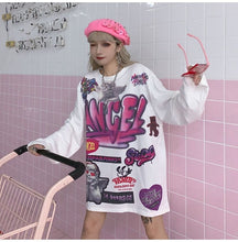 "Load image into Gallery viewer, ""ANGEL GRAFFITI"" SWEATSHIRT (2 COLORS)"