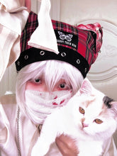 "Load image into Gallery viewer, ""RAIN NIGHT PARASITE"" CAT EAR BEANIE"