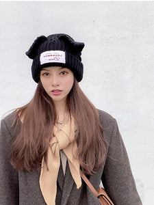 """LOVERBOY"" CAT EAR BEANIE (5 COLORS)"