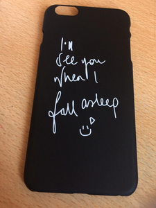 """I'LL SEE YOU WHEN I FALL ASLEEP"" IPHONE CASE (2 COLORS)"