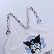 "Load image into Gallery viewer, ""DARK BABY"" KUROMI CROP TOP"