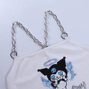 """DARK BABY"" KUROMI CROP TOP"
