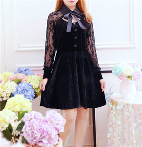 "BLACK LACE ""BALL"" DRESS"