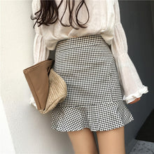 Load image into Gallery viewer, RUFFLE GINGHAM SKIRT