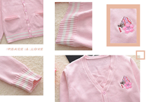 "Load image into Gallery viewer, ""TRADITIONAL SAKURA"" CARDIGAN"