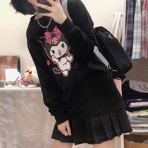"""KUROMI LOVE"" SWEATSHIRT (2 COLORS)"