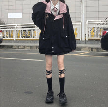 "Load image into Gallery viewer, ""COTTON CANDY"" SCHOOL JACKET (2 COLORS)"