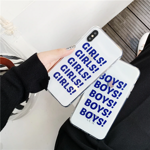"""BOYS BOYS BOYS / GIRLS GIRLS GIRLS"" IPHONE CASE"