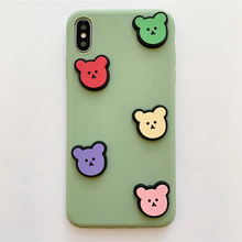 Load image into Gallery viewer, 3D BEAR SQUAD IPHONE CASE (2 COLORS)