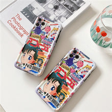 "Load image into Gallery viewer, ""SAILOR MOON MAGAZINE"" IPHONE CASE"