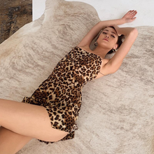 Load image into Gallery viewer, LEOPARD SLIP DRESS