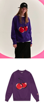 "Load image into Gallery viewer, ""CHERRY LOVE"" SWEATER (4 COLORS)"